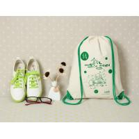 Buy cheap custom eco-friendly school sport backpack cotton drawstring bag from wholesalers