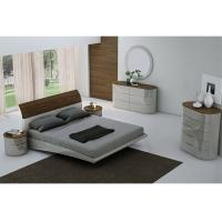 Quality E1 Board High Gloss Bedroom Furniture with Veneer and Optional Wardrobe for sale