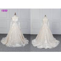 China Bridal Long Sleeves Lace Designs A Line Ball Gown Wedding Dress Custom Made wholesale