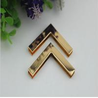 China Accept OEM light gold 40 mm right-angle metal corner protector for wooden box decorative wholesale