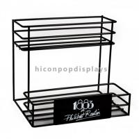 China Countertop 2 - Layer 6 Bottle Beer Retail Metal 6mm Wire Display Rack For Wine Shop wholesale