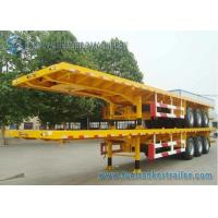 China 45 Feet Container Flatbed Semi Trailer , Capacity 40 T 45 Ton Trailer wholesale