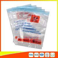 China Zip Seal Medical Transport Bags For Hospital , Biohazard Ziplock Bags on sale
