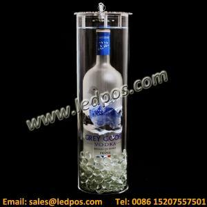 China Acrylic Cylinder Grey Goose Locking Bottle Service Display wholesale