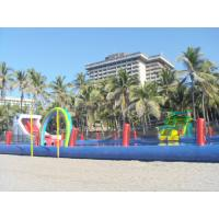 China Durable Inflatable Water Park Slides With Big Pool For Beach Or Hotel wholesale