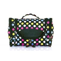 China 600D Polyester Travel Hanging Toiletry Bag With Multiple Compartments In Dots wholesale