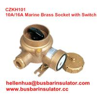 China 10A/16A marine brass socket with switch CZKH101 electrical connectors IP56 wholesale