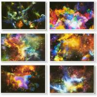 China Multicolored 4x6'' Happy Holidays Card Cosmic Designs Envelopes Included wholesale