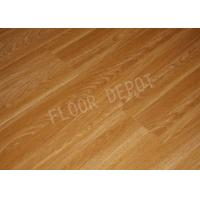 China HDF Laminate Wood Flooring AC4 E1 Embossed Cherry Color V Groove Home Office wholesale