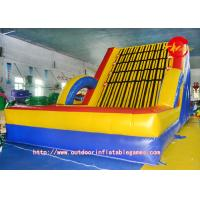 Quality Outdoor PVC Inflatable Rock Climbing Wall Adult Fitness Movement for sale