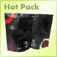 China Organic Matte Black Printed Stand Up Pouches , 100g - 1000g Tea Packaging Pouch wholesale