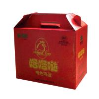 China Red 10 * 6 * 12 Inch Corrugated Cardboard Packaging Boxes With Handle For Eggs wholesale