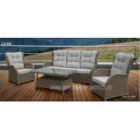 China Wicker Conversation Patio Seating Sets / Patio Furniture Table And Chairs Weatherproof wholesale