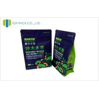 China Block Bottom Coffee Packing Bags Custom Ziplock Closure Pouch 250g / 500g / 1000g Size wholesale