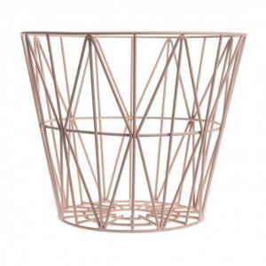 China Brass Large Storage Wire Grid Baskets , Wire Basket Clothes Storage Hamper wholesale