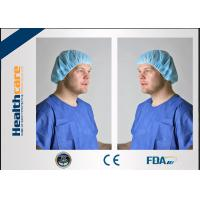 China PP Or SMS Disposable Bouffant Surgical Caps , Disposable Nurse CapLightweight on sale