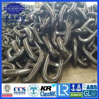 China Up to 182mm AM3 Black Painted ISO 1704 Stud Link Anchor Chain with KR LR BV NK ABS DNV certification on sale