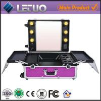 China LT-MCL0042 online shopping rolling makeup case with lights makeup case with lighted mirror wholesale