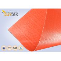 China Silicone Coated Bulk Fiberglass Cloth Roll Resistant High Temperature Up To 1000 C Degree wholesale