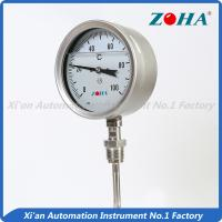 China SS Dial Temperature Gauge , Shock Proof Bimetallic Expansion Thermometer wholesale
