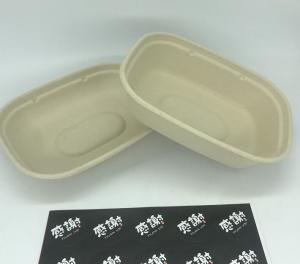 China Sald Bio Rectangle U Shape Sugarcane Tableware Food Container With Transparent Lid wholesale
