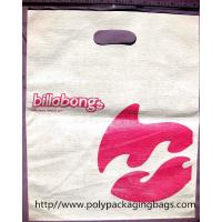 China Embossing Die Cut Shopping Bag White Plastic Bags With Handles wholesale
