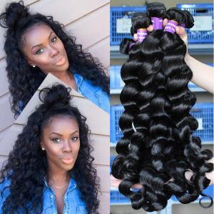 Buy cheap Loose Wave Virgin Indian Human Hair Long Weave No Chemical 1B Grade from wholesalers