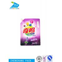 China Colorful Printed Spout Pouch Portable For Packing Laundry Detergent Liquid wholesale