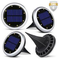 China White Solar Powered LED Ground Lights / Solar Lights For Driveway Entrance wholesale