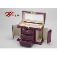 China Fashionable Wooden Jewellery Box 3 Drawers 4 Layers Wooden Jewelry Case wholesale