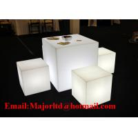 China Remote Control Outdoor Waterproof Colors Changing  Battery Power Lighting up LED Cube Chair on sale
