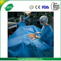 China Sterile Laparoscopy surgical drape with two fluid collection pouch bags wholesale