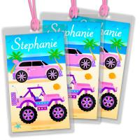 China Custom design size and shape Printed Technics copperplate printin Personalised Bag Tags wholesale