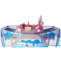 Pink color good fiberglass quality  flying sleigh car for indoor and outdoor playground entertainment