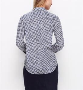 China 100% Silk Full sleeves notched fashion chiffon printed shirt OEM China dress manufacturers on sale