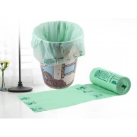 China Household 40% 60% Corn Starch Trash Bags Bin Liners Biodegradable Disposable Bags wholesale
