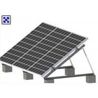 China Triangle Frame Adjustable Solar Panel Mounting System For Flat Roof Or Ground wholesale