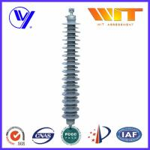 China Transmission Line Composite ZnO Surge Arrester with External Series Gaps , 220KV High Voltage wholesale