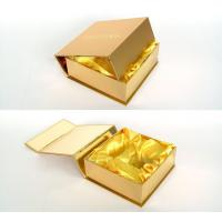 Quality Customized Gold Present Wine Gift Cardboard Boxes with Lids for Wedding for sale