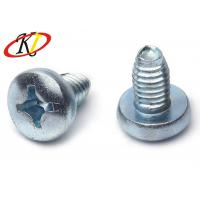 Buy cheap Phillips Drive Triangle Pan Head Self Tapping Screws With Blue White Zinc Plated from wholesalers
