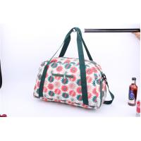China New style light weigh weekender bag with beautiful flower printing wholesale