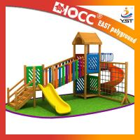 China Rainbow Wooden Playground Equipment Galvanized Steel Pipe CE Approved wholesale