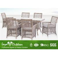 China Wicker Garden Furniture 7 Piece Outdoor Patio Dining Set Europe Style Ajustable Size wholesale