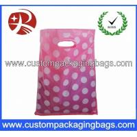 China Colorful Die Cut Handle Plastic Bags Custom Plastic Shopping Bags on sale