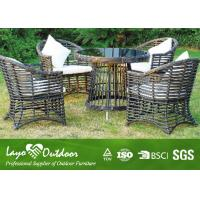China Round Rattan Table Backyard Patio Furniture Dining Sets For 6 Leisure Style wholesale