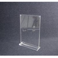 China COMER A4 acrylic tabletop holder menu display stand clear lucite with alarm display system wholesale