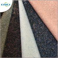 Quality Diamond Chunky Glitter Fabric Sheets Canvas Backing Anti Mildew Waterproof for sale