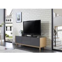 China Two Drawer and Two Door TV Stand with E1 Matt Grey Furnishing with Solid Wood wholesale