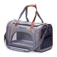 China Grey Airline Approved Pet Carrier Bag For Small Dogs Fits Underneath Airplane Seat wholesale