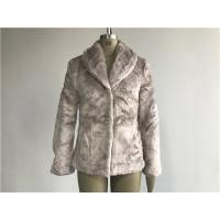 Quality Mink Ladies Fake Fur Coats / Faux Fur Reverse Collar Luxe Coat TW64896 for sale